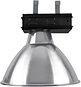 """Luminária Industrial com difusor em alumínio anonizado alto brilho de 20"""" polegadas. Alojamento em chapa de aço modelo caixa, acompanha soquete E-40 e gancho para perfilado.  * Opção sob consulta de tampa em lente de vidro ou poliestireno prismático fixa"""