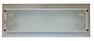 Plafon retangular de sobrepor em alumínio com vidro temperado e jateado central para lâmpada 2x ou 4x E27.  Cores: Branco  YQ100P  2x Lâmpada fluorescente eletrônica compacta até 25w YQ100G  4x Lâmpada fluorescente eletrônica compacta até 25w    YQ100