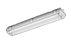 Luminária IP65 Hermética multifuro para lâmpadas T8 e T5 para aplicações em padarias, açougues, mercados, cozinha industrial, câmaras firas, etc.