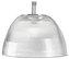 LIPP16 - luminária prismática soquete soqueteira simples sem alojamento para lâmpada fluorescente econômica