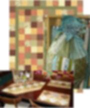 Original patterns for charm squares