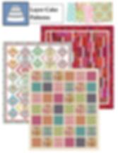 "Original quilt patterns for 10"" square packs"