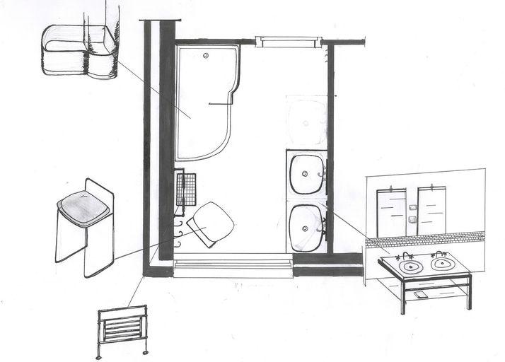 Voorlopig ontwerp badkamerjpg with slaapkamer tekenen for Badkamer tekenen programma