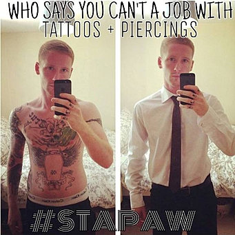 outline of tattoo in the workplace Read this essay on tattoos in the workplace tattoo discrimination lawsuits have only been successful when step 1: using the thesis statement, outline.