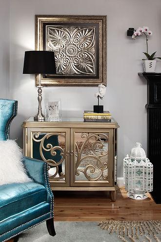 Light Grey Living Room Interior Design, Interior Designers in Atlanta