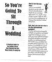 Funny Wedding Program