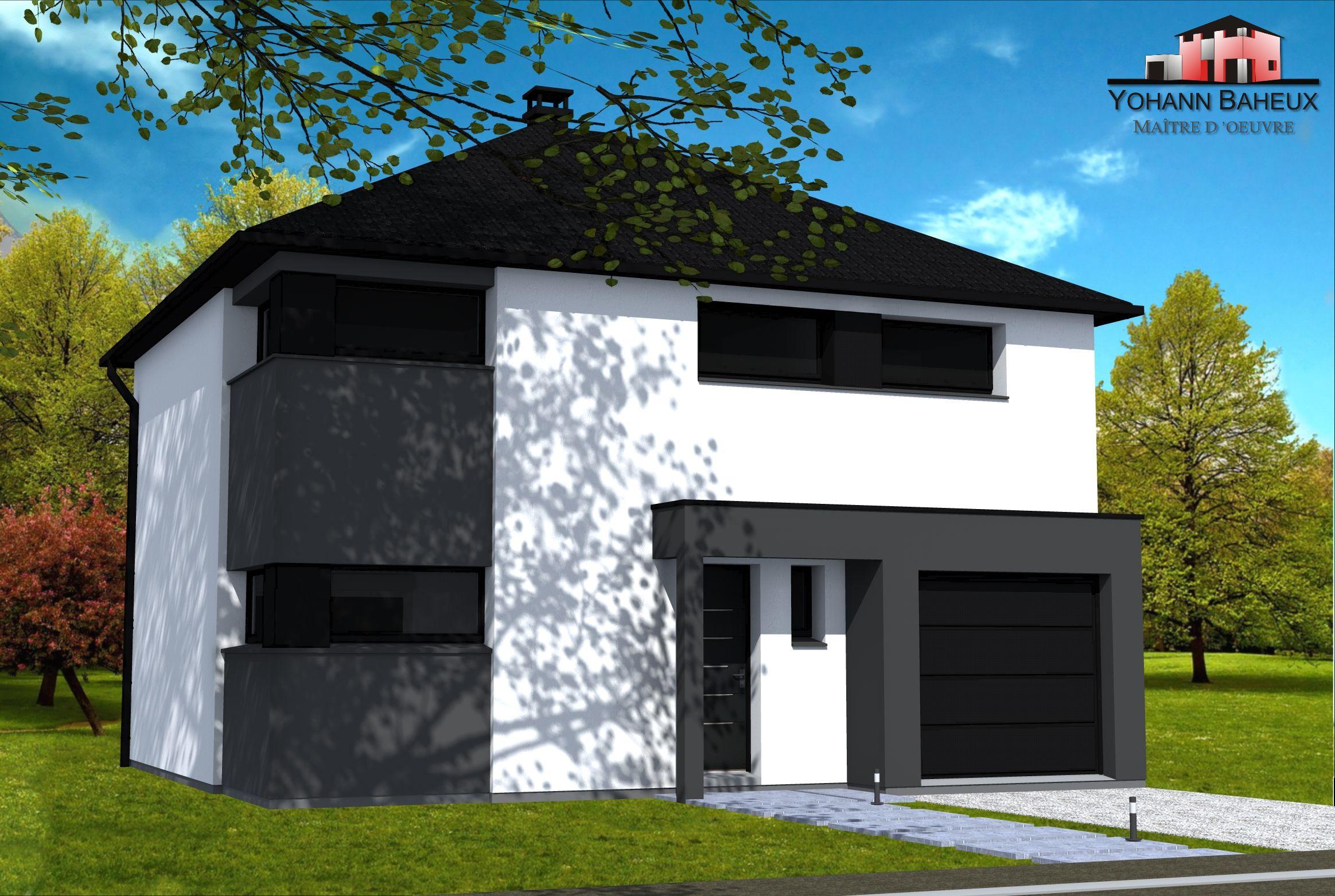 Plan maison cubique cubique cube 4 plan maison cubique bac acier plain pied architecte bois Maison cube toit