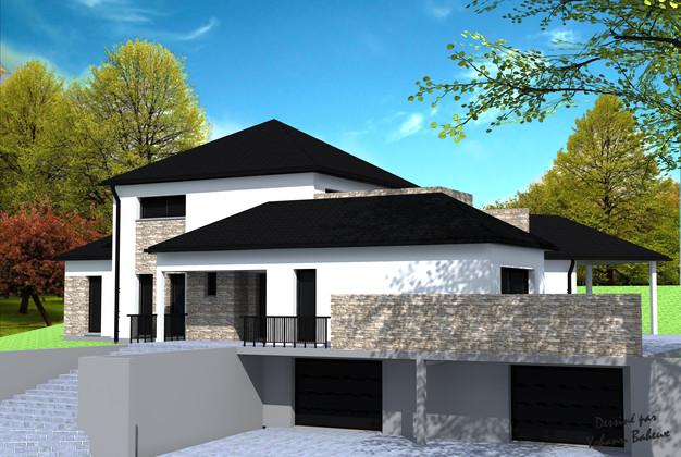 Maison sous sol maison de plain pied avec sous sol demi for Maison en v avec sous sol