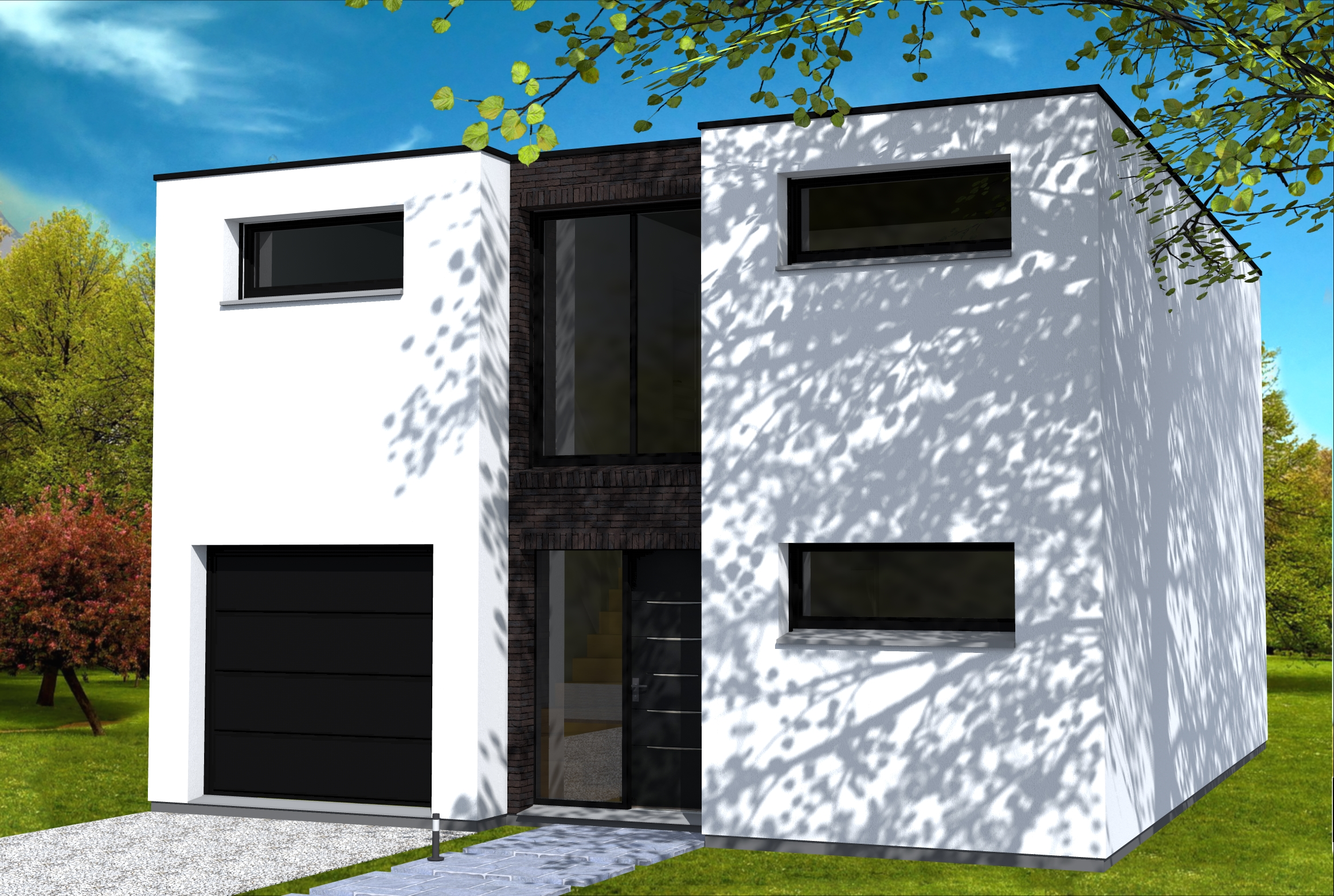 Top Emejing Maison Moderne Fenetre Blanche Images - Amazing House  SO98