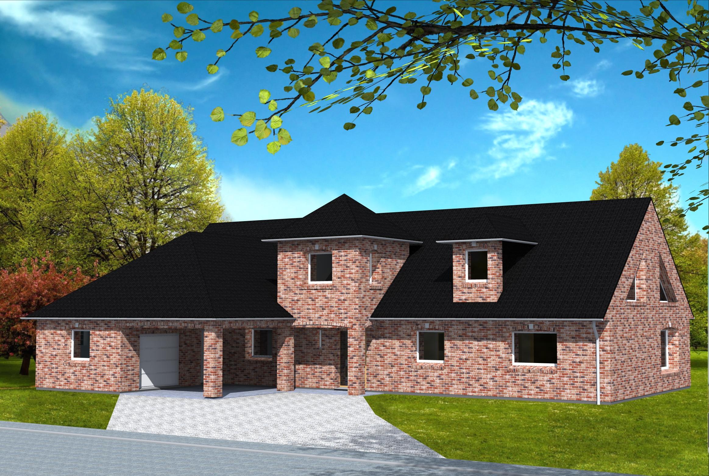 maison avec tour yohann baheux ma tre d 39 oeuvre permis de construire 59 62. Black Bedroom Furniture Sets. Home Design Ideas