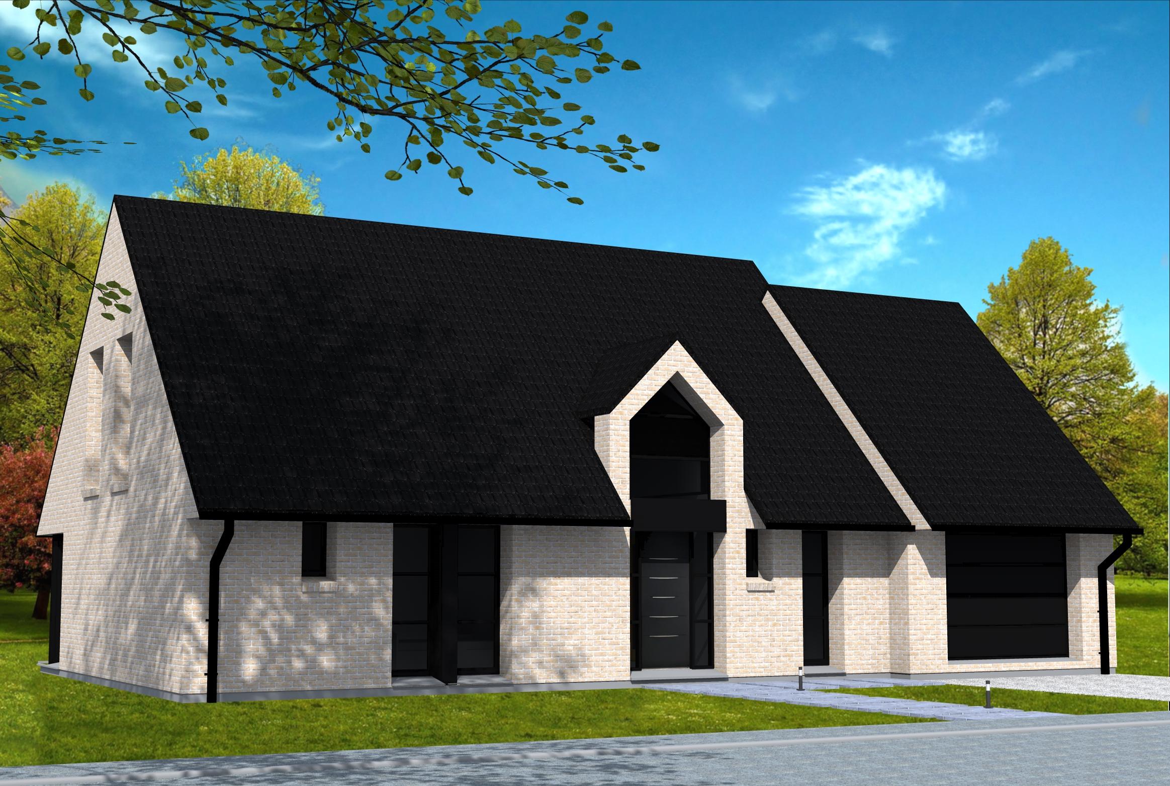 Outeau toiture rev tements modernes du toit for Toiture tuile plate noire