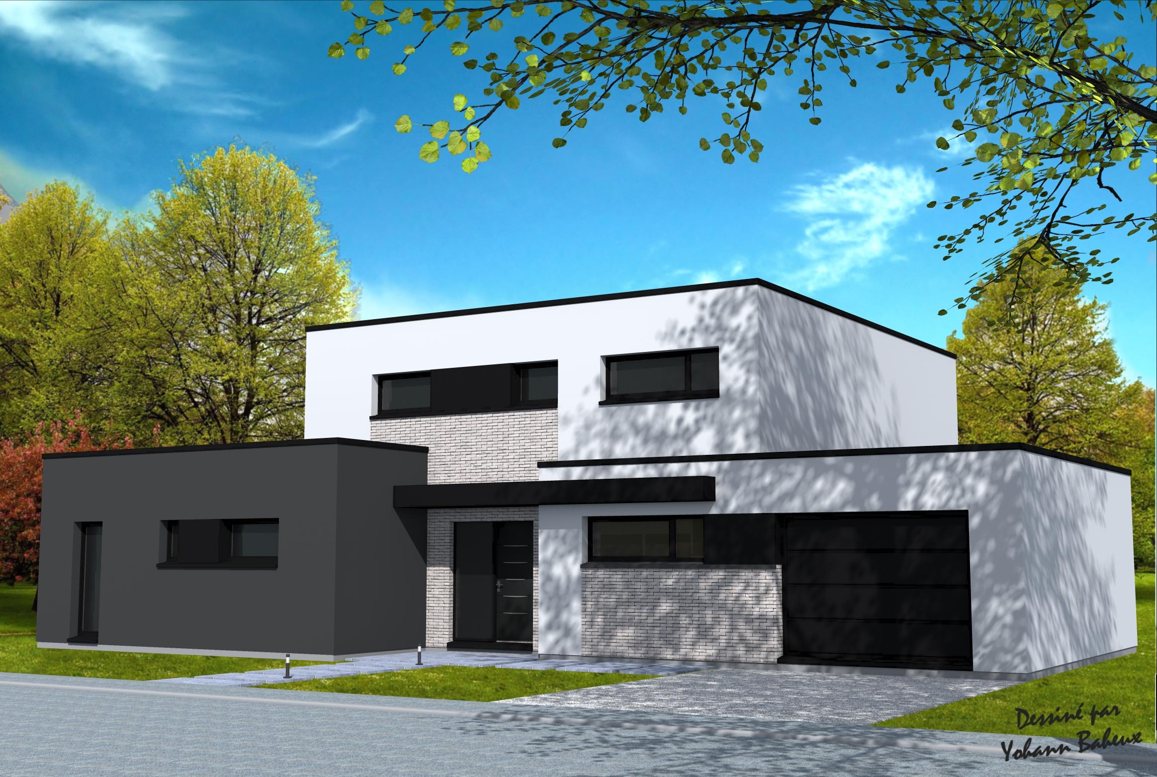 Souvent Plan de maison Yohann Baheux Maître d'oeuvre Nord Pas de Calais LA49