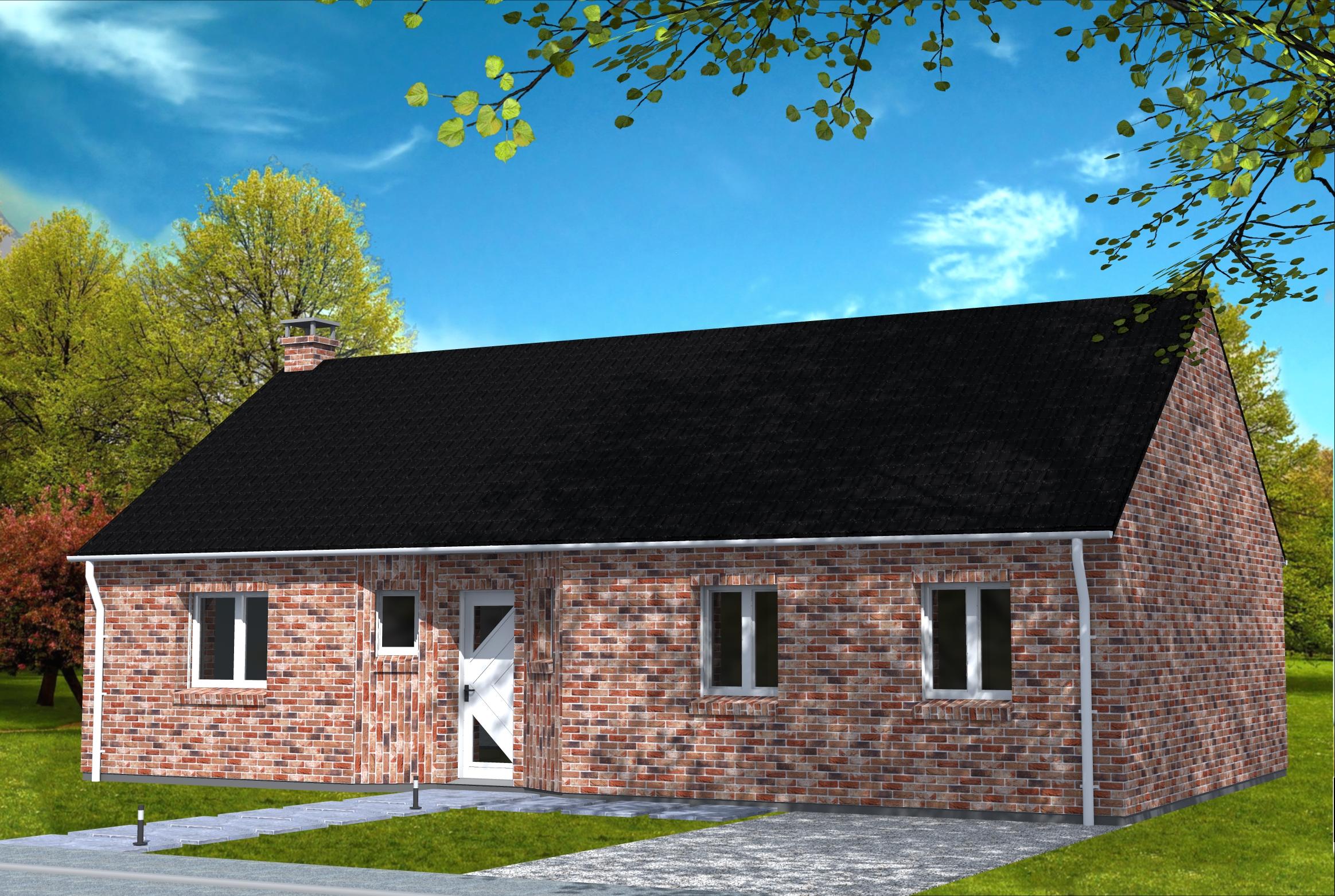 maison traditionnelle en briques yohann baheux ma tre d 39 oeuvre permis de construire 59 62. Black Bedroom Furniture Sets. Home Design Ideas