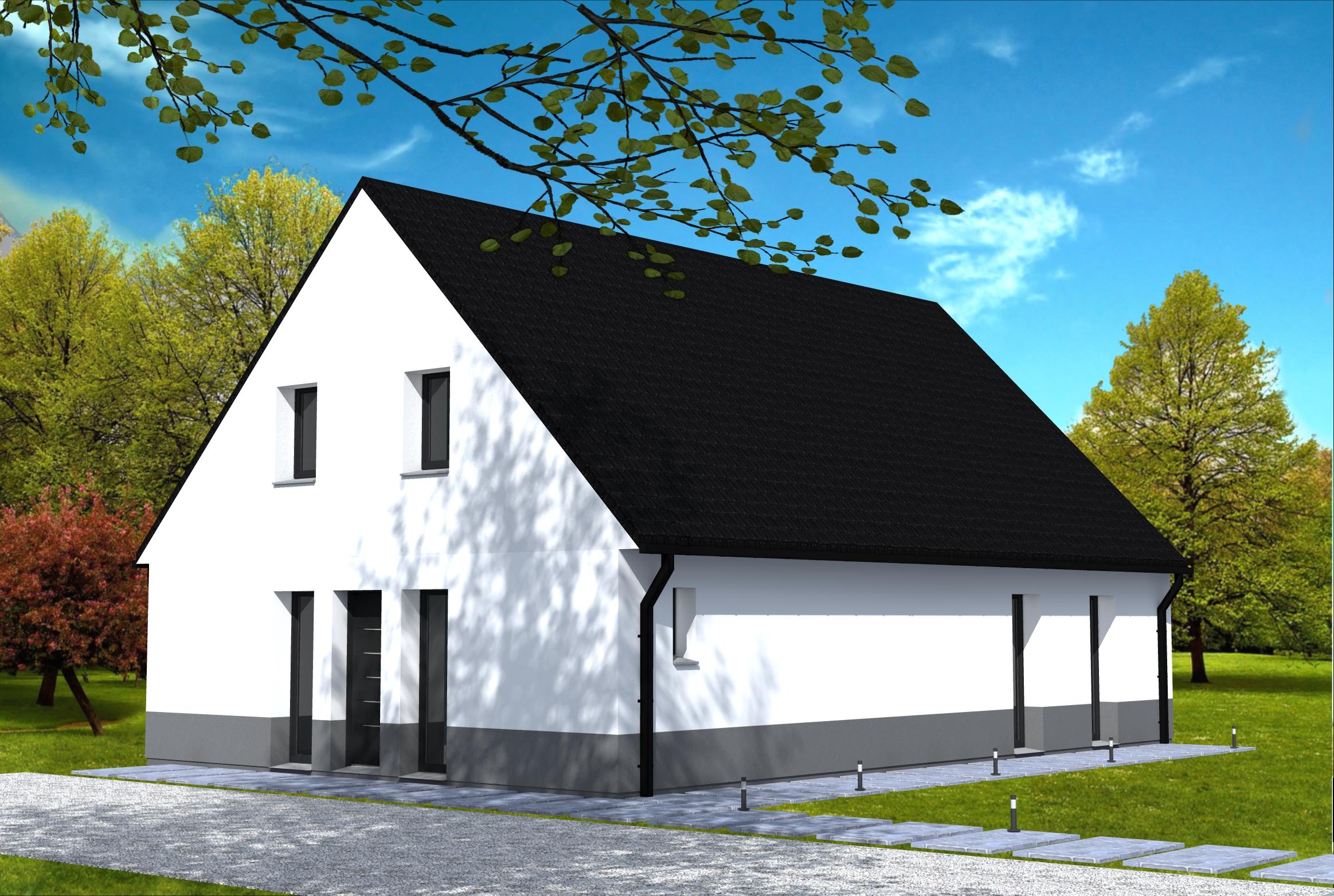 Maison entr e sur pignon yohann baheux ma tre d 39 oeuvre for Construire une maison sur un terrain agricole