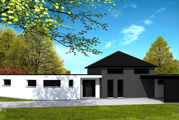 Maison moderne yohann baheux ma tre d 39 oeuvre permis de for Permis de construire agricole