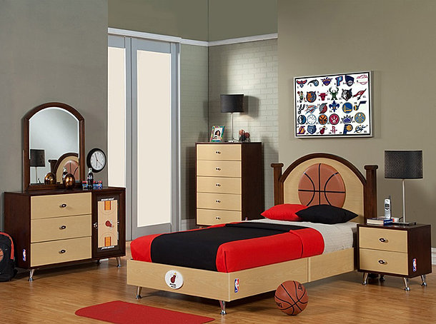 NBA Basketball Bedroom – Lakers Bedroom