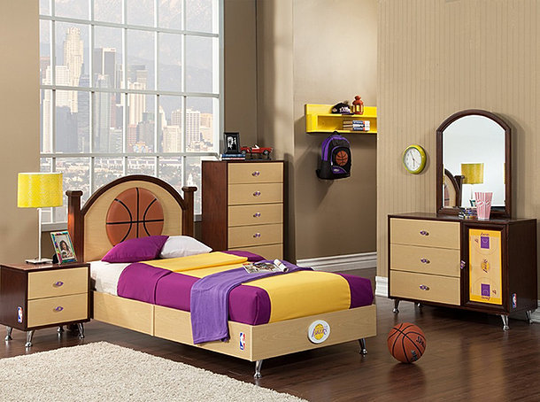 NBA Basketball Bedroom  Lakers. NBA Basketball Bedroom