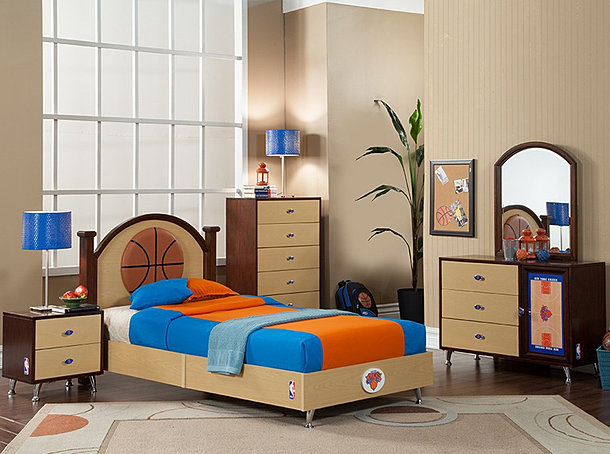 Knicks. NBA Basketball Bedroom