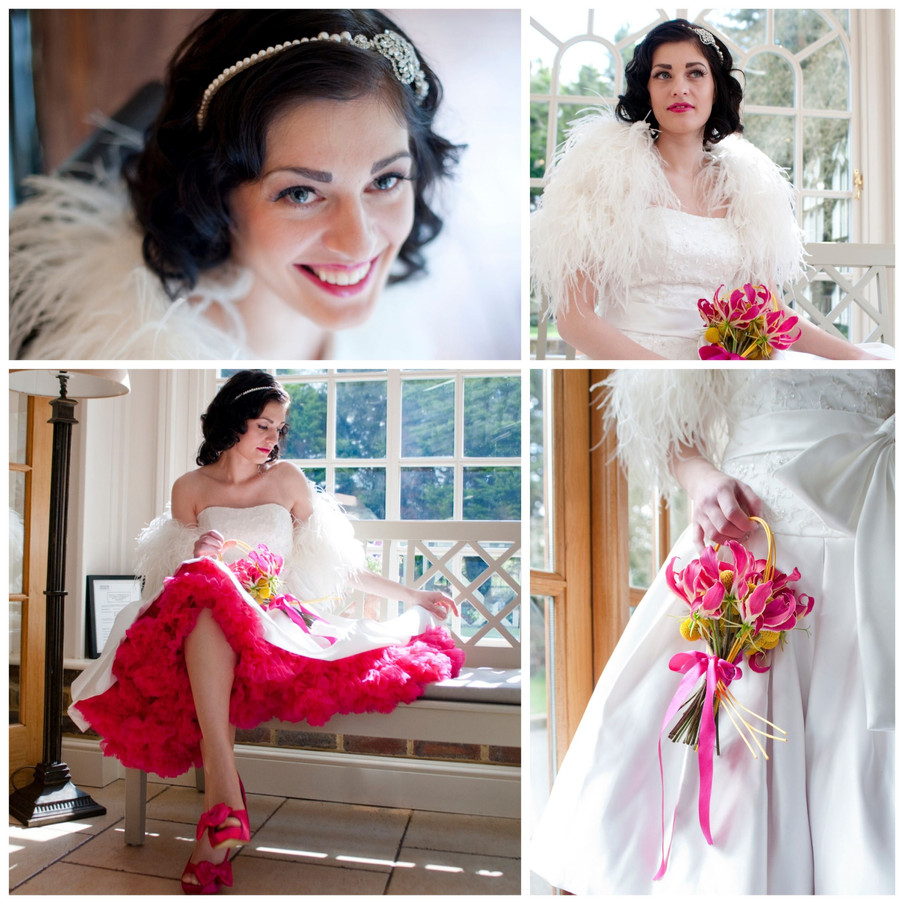 laura love katarina ... which was loaned to us by Bellisima Weddings; a classic styled dress  with beautiful ruffled detailing in the skirt. Her head piece was also by  Love ...