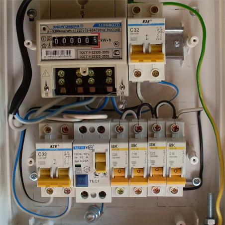 Электропроводка от счетчика