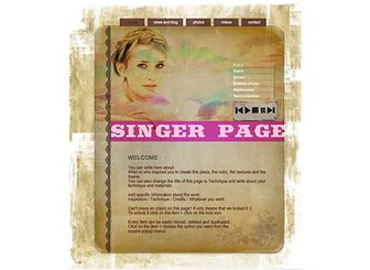 My Own Music Template - This professional looking Website is ideal for the Music industry to build a strong online presence. With simple navigation, easy to customize images and colors, and plenty of room for explanation of your personal and professional presence this Website is waiting to promote your business on the web.