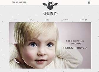 Little Layette Template - A sweet and cozy template perfect for your children's clothing company. Upload images and add text to showcase your wares. It's never been easier for customers to purchase your products.