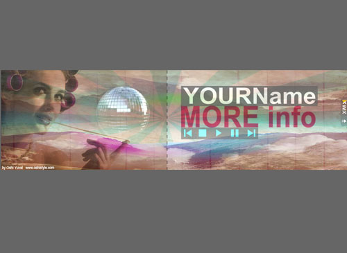 Top Grunge Banner Template - An inviting design with just the right look and feel to make your visitors feel relaxed right from the start. Customize it with your own information in quick and simple steps.