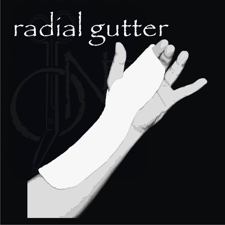 how to make a radial gutter splint