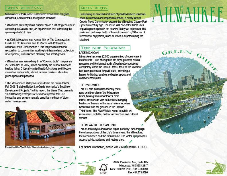 Green Brochure (outside)