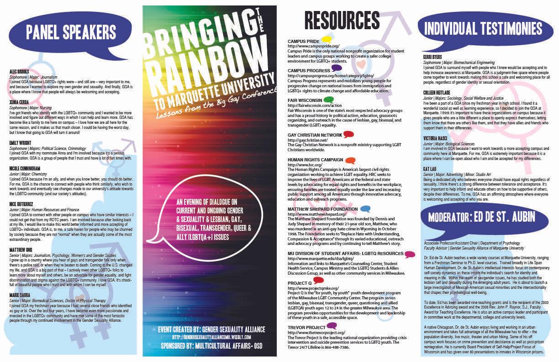 GSA Brochure (outside)