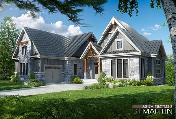 Mod les charpentes de bois massif - Modele maison champetre ...