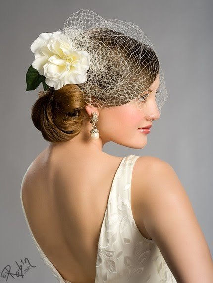 THE WHITE ROSE CAGE VEIL