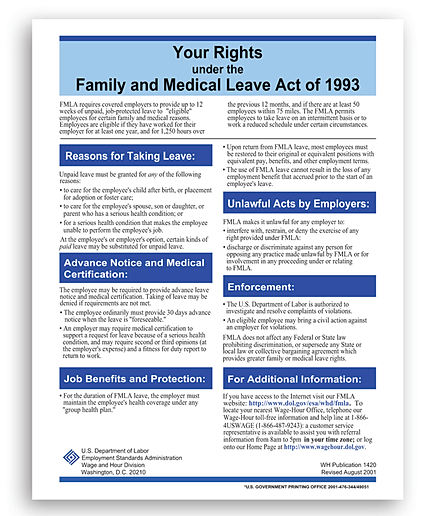 the objectives and reasoning behind the family and medical leave act of 1993