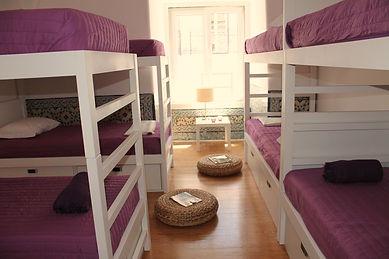 8 Bed Dorm in Lisbon Hostel