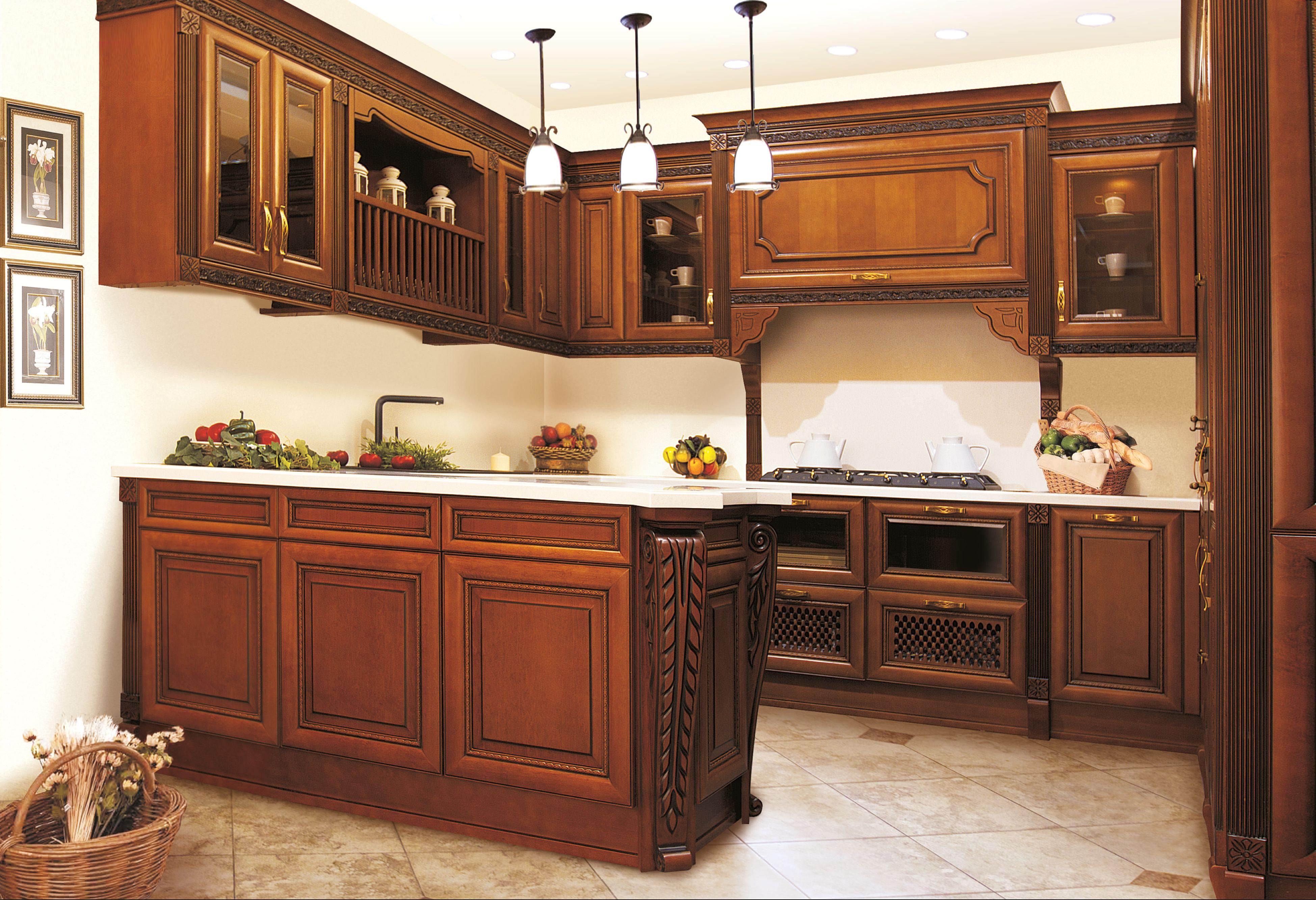 Кухни из массива дерева фото