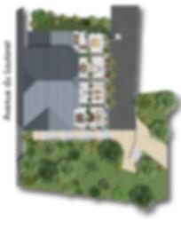 Les Terrasses du Lautaret - Appartement neuf à Briançon - Plan de masse