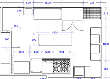green kitchen layout