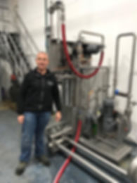 Our client with his new Brewology Cask Racker