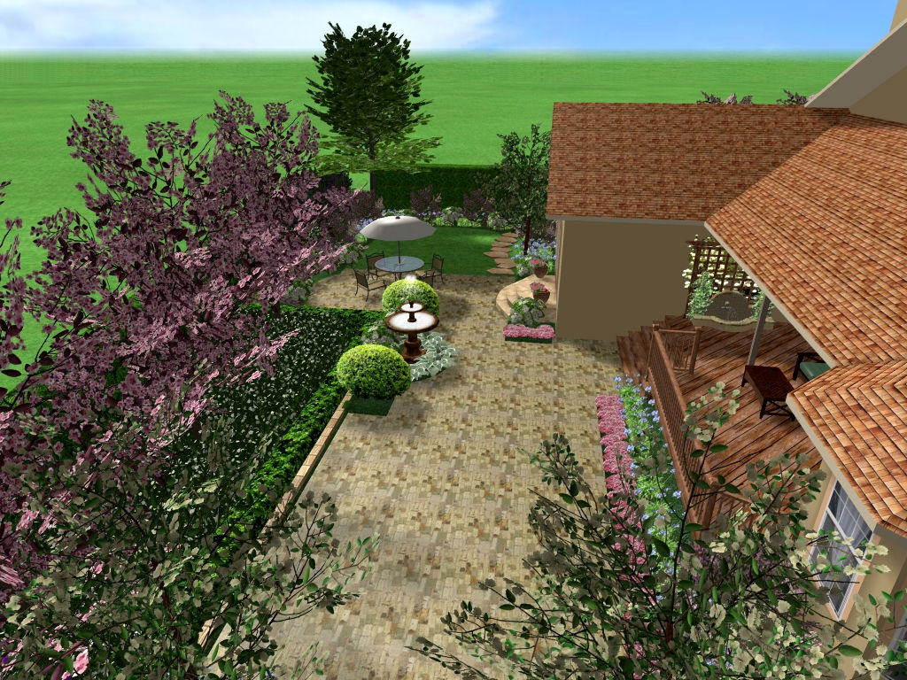California residential landscape design for 3d garden design