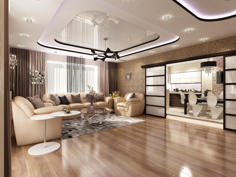 Дизайн совмещения гостиной и кухни фото