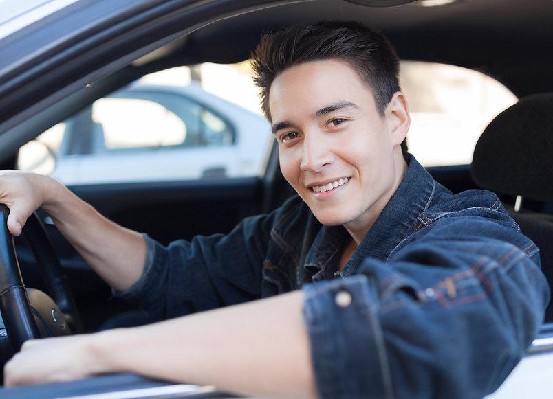 Junger Fahrer
