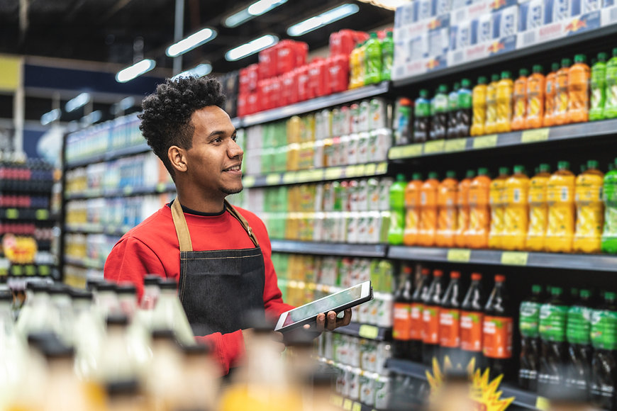 Lebensmittelgeschäft Arbeiter