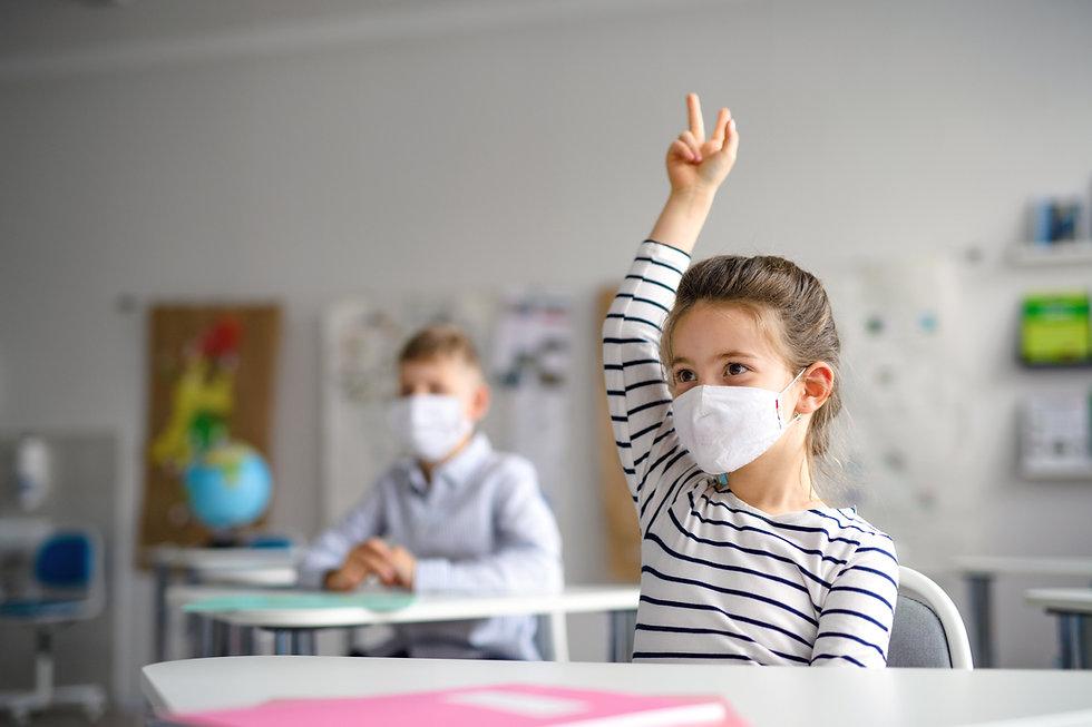 Retour à l'école avec masque
