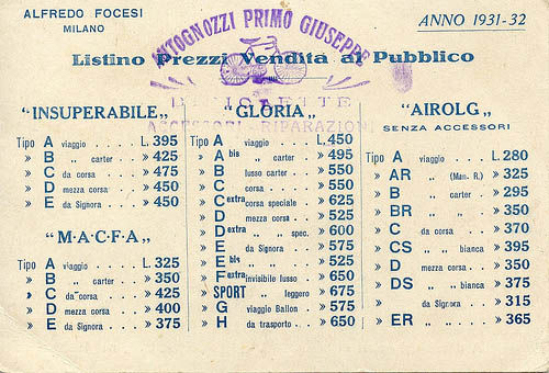1932 gloria price list