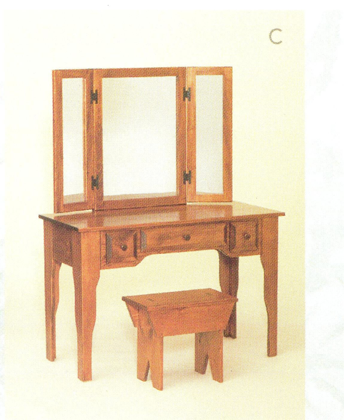 Bookcases plus wide pine vanity for Wide dressing table