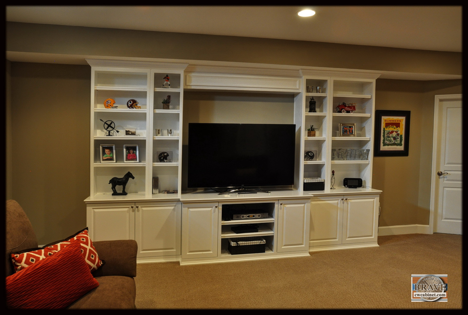 Family Room Living Room builtin cabinets