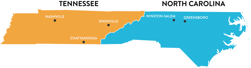 locations map orange and blue on transpa