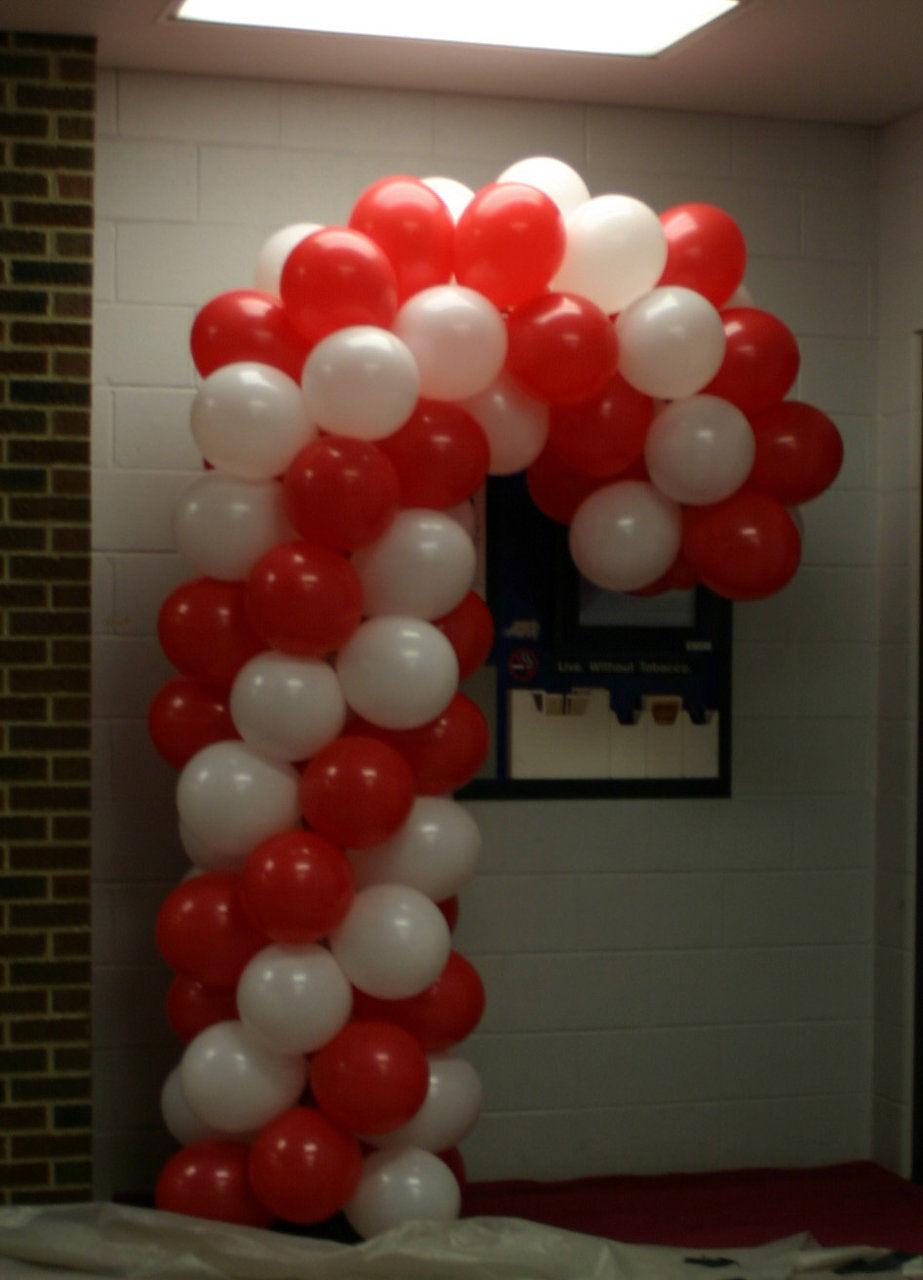 Balloongenuity ingenious balloon creativity central for Candy cane balloon sculpture