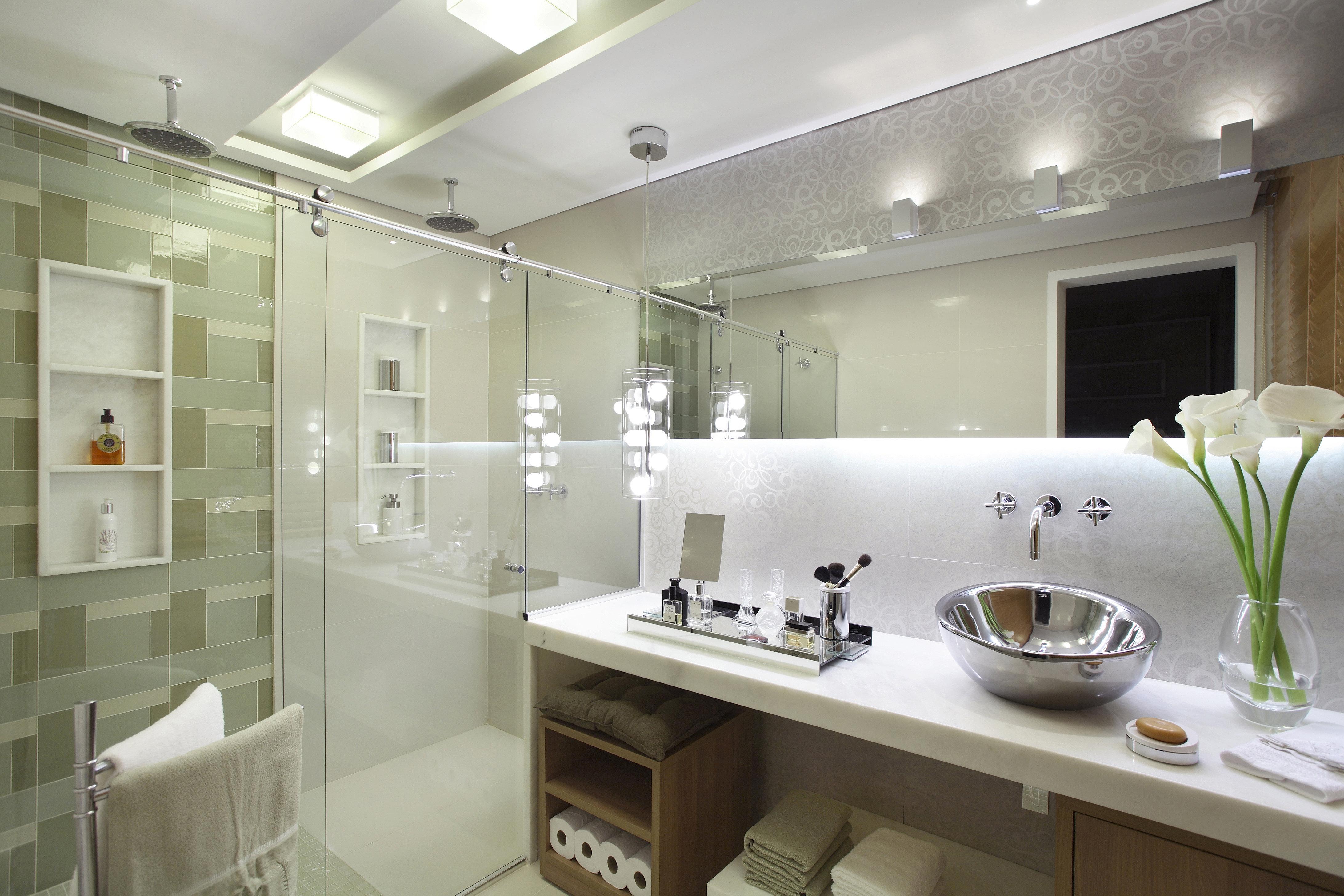 Blindex com kit box elegance da IdeiaGlass. Leveza para o seu banheiro #4E5F28 4368 2912