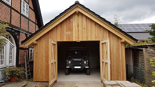 hobak garagen in holzst nderbauweise. Black Bedroom Furniture Sets. Home Design Ideas